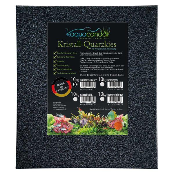 aquacando Aquarium Kristall-Quarzkies Brilliantschwarz (10kg)