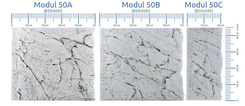 White Limestone Back To Nature Rückwände alle Module zusammen