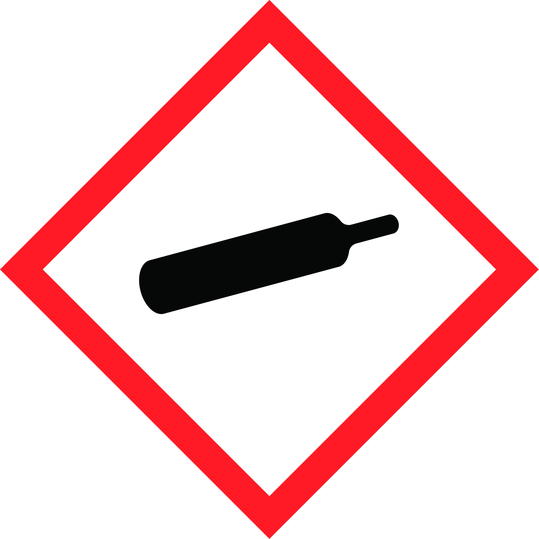 Gefahrensymbol CO2 Flasche