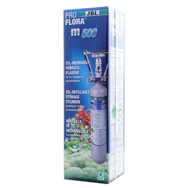 JBL ProFlora m500 SILVER | Mehrweg-Vorratsflasche mit 500 g CO2